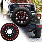 omotor for Jeep Third Brake Light Spare Tire Brake Light for 2007-2020 Jeep Wrangler JK JL Unlimited Rubicon Sahara X Sport - Spare Tire 3rd Brake Light