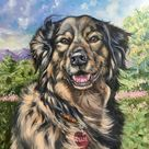 Custom dog painting on canvas custom dog painting custom dog   Etsy