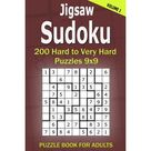 Jigsaw Sudoku Puzzle Book for Adults 200 Hard to Very Hard Puzzles 9x9 Volume1 Paperback