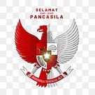 Garuda Pancasila With Red And White Indonesia, Lahir Pancasila, Hari Lahir Pancasila, Kesaktian Pancasila PNG and Vector with Transparent Background for Free Download