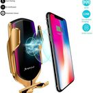 Wireless Automatic Sensor Car Phone Holder And Charger - iPhone / Gold