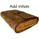 LEATHER JOURNAL Handmade Vintage Deckle Edge Unlined & Lined Paper, Book of Shadows, Grimoire, Fantasy Junk Scrapbook, antique dnd spellbook
