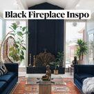 Cool Black Fireplace Inspo