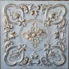 Ceiling tiles faux finished white gold color PL30 10tiles/lot   Etsy
