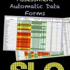 SLO Editable Pre & Post Assessments Automatic Data Forms