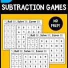 No Prep Subtraction Games: Roll & Cover - This Reading Mama