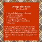 Orange Jello Salads