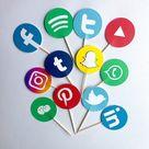 Social Media Tik Tok, Instagram Youtube, Facebook Cupcake Toppers/ Personalized social media / Decor de pastelillo Tik Tok