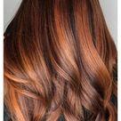 dark brown copper hair
