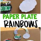 Paper Plate Rainbow Pot O' Gold Craft - Crafty Morning