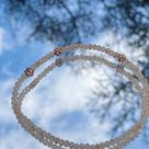Handmade beaded bracelet with flowers  pearl bracelet with bronze flowers  flower bracelet  pearl bracelet  gift for girlfriend