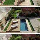 Photo terrasse mobile coulissante de piscine/spa en bois