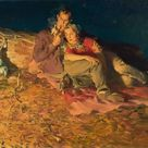 Haddon Hubbard Sundblom - Evening by the Fire