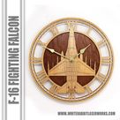 F 16 Fighting Falcon Wooden Wall Clock, United States Air Force Aircraft Gift, Airplane, Wood Clock, Aviation Gift, Military Gift Pilot Gift