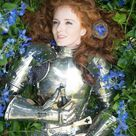 Medieval Woman Lady Armor with armor, Female knight, Warrior girl  Suit Battle  Half  Body 18 Gauge St|eel
