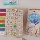 Classroom Calendar  Maple Wood | Etsy