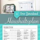 Haushaltsplan / Putzplan (Download) #organisieren3