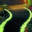 glow in the dark flower pots diy yard ideas pinterest