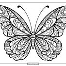 Printable Butterfly Mandala PDF Coloring Pages 41