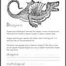 Dragon Mythology Worksheet