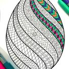Swirl Easter Egg - PDF Coloring Page