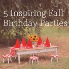 Fall Birthday Parties