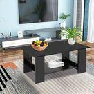 Couchtisch Teetisch Holztisch Beistelltisch Sofatisch Kaffeetisch Wohnzimmer-tisch 80 x 40 x 42 cm