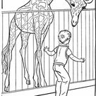 Zoo Animal Coloring Pages | Zoo Giraffe Exhibit Coloring Page and Kids Activity sheet