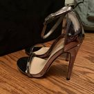 Stunning classic strap silver stilettos Reposhing this item. They are amazing l, but they do not fit me. They are size 6.5. If you need additional photos let me know :) Shoe Dazzle Shoes Heels