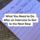 How to Write a Post Interview Thank You Note