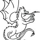 Easy Printable Dragon Coloring Pages