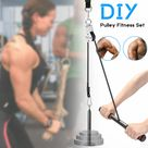 Fitness DIY Pulley Cable Machine Attachment System Lifting Arm Hand Strength Training Leg Tendon Stretching Equipment - Walmart.com