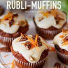 Saftige Rübli-Muffins mit Kokoscreme