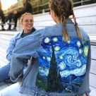 Van Gogh Starry Night denim jacket - #Denim #Gogh #jacket #night #Starry #Van