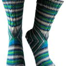 The Cheshire Cat Socks pattern by Louise Robert
