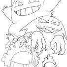Pokemon Gastly Coloring Pages Printable
