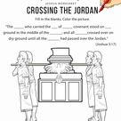 Crossing the Jordan worksheet and coloring page