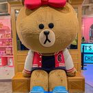 Brown big doll, Line friends flagship store Gangnam, Seoul, South Korea Landscape
