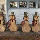 DIY Deko Ideen - zu Weihnachten den Garten gestalten