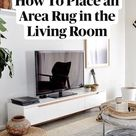 How To Place an Area Rug in the Living Room