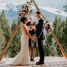 Triangle wedding arch   Canmore wedding