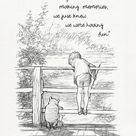 We didn't realize we were making memories...  Winnie the Pooh Quotes - classic vintage style  poster print #117