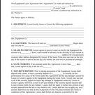Rent To Own Equipment Agreement Template - Usforumdkg