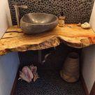 Small Bathroom Ideas With Stone Wash Basins