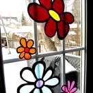 Stained Glass Tissue Paper Flowers