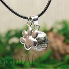 Cat hair bead / souvenir jewelry / cat hair with 925 silver kitten