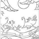 Animals Walking Under The Moon coloring page   Free Printable Coloring Pages
