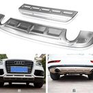 Front + Rear Bumper Diffuser Protector Guard Skid Plate For AUDI Q5 2009 2010 2011 2012 2013 2014 2015 2016 2017 BY EMS   buy at the price of $155.99 in aliexpress.com