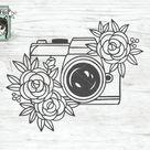 Camera SVG file, Photography SVG file, Photographer SVG file, Flower, Floral, Camera clip art