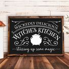 Witches Brew Coffee House SVG Download. Halloween Sign Design | Etsy